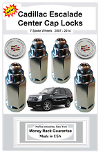 Cadillac Escalade 2007-2014 Center Cap Locks fits 7 spoke  (centercaplocks.com)