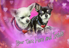 PERSONALISED CHIHUAHUA DOG VALENTINE MOTHERS DAY BIRTHDAY ANY OCCASION CARD