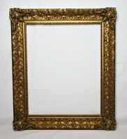 Vintage Antique Baroque Style Gold Painted Ornate Gesso Picture Frame Fits 20x16