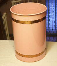 1950s Pink Copper Lincoln Beautyware Kitchen Set Trash Can