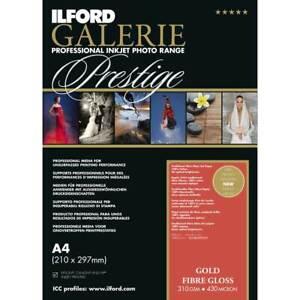 Ilford GALERIE Prestige Gold Fibre Gloss DIN A4, 25 Blatt, GPGFG, 310 g/qm