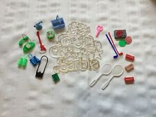 Vintage lot of 1980's Mattel Barbie Doll Accessories : Stereo radio telephone ++