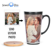 Personalized Photo Coffee Mug Magic Color Changing Sensitive Hot Heat Water Cup