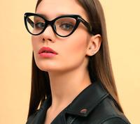 Women Cat Eye Glasses Clear Lens Myopia Optical Frames Luxury Spectacles