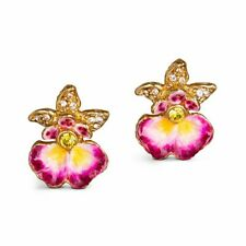 Jay Strongwater Orchid Earrings GORGEOUS Brand New, Never Been Removed from Case