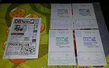 DRAGONBALL Z  petit journal DBNews n 6 + carte postale ultra rare