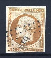 """FRANCE  N° 9 """" LOUIS-NAPOLEON 10c  BISTRE 1852 """" OBLITERE TB A VOIR  P684"""