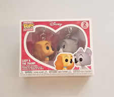 FUNKO Pocket Pop! Keychain LADY and the Tramp Disney Treasures Exclusive 2 Pack