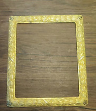 Used copper photo frame, weighing 798g. Simple style. Square shape.Slightly worn