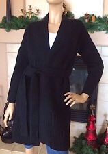 UNIQLO U LEMAIRE WOMEN LAMBSWOOL LONG CARDIGAN COLOR BLACK NWT SIZE L 89.90$