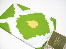Pottery Barn Cotton Multi Colors Green Ikat Print Standard Pillow Cover Sham