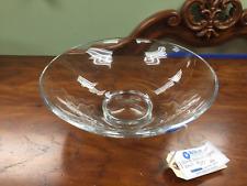 Clear Hand-Blown Glass Bowl
