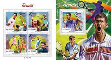 Tennis Djokovic Williams Sharapova Murray Sports Sierra Leone MNH stamp set