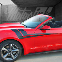 2015 2016 2017 Ford Mustang Hood to Fender Side Thunderbolt Side Double Stripes
