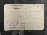 1940 Germany to England Transit Prisoner of war POW Camp Postcard Cover