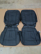 2015 2016 2017 2018 Ford F150 Super crew Black Katzkin leather seat cover set