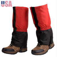 Waterproof Leg Gaiters shoe cover long legging hunting hiking camping kids 4-12