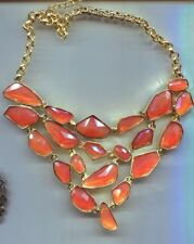 KENNETH LANE CINNAMON GLASS NECKLACE