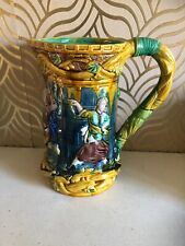 Large Majolica Jug With Castle Scene And Medieval People