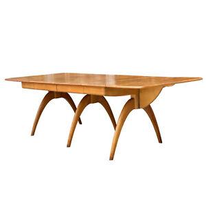 Mid-Century Modern Heywood Wakefield Wishbone Drop Leaf Butterfly Dining Table