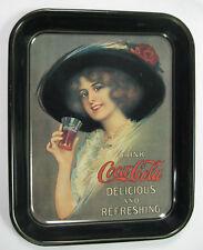 "Coca Cola 1973 Reproduction Tray of the 1913 ""Hamilton King Girl"" Tray - NM-MT"
