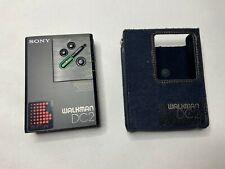 RARE SONY WM-DC2 Amorphous Head WALKMAN w/ Intact Gear Personal Cassette Player