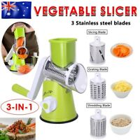 AU Kitchen Multifunction Vegetable Slicer Food Manual Rotary Drum Grater Chopper