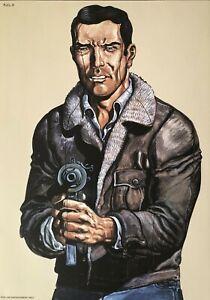 Supercool Vintage Police Law Enforcement Shooting practice poster mancave
