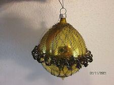 Vintage W Germany/ Austria Wire Wrapped Mercury Glass Christmas Ornament Large