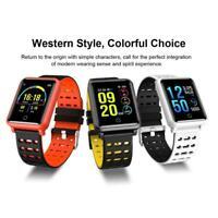 Waterproof Bluetooth 4.2 Smart Watch Heart Rate Blood Pressure Monitor Bracelet