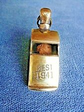 w s SUPERB BEST 1941 BRASS ESCARGOT WHISTLE