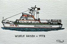 """ORIGINAL ZEICHNUNG - DGzRS Seenotrettungskreuzer """"Wilhelm Kaisen""""."""