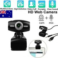 360° Rotating HD Lens Driver-free USB Webcam Camera w/Microphone for PC Laptop