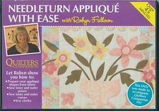 D1 Needleturn Applique' with Ease with Robyn Falloon Over 45 Mins DVD