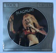 "MAGNUM The Chris Tetley Interviews 12"" Fotodisk CT1018 UK 1988 VG+ PIC DISC"