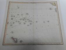 100% ORIGINALE GRANDE sud isole del Pacifico mappa da W LIZARS C1845 in buonissima condizione