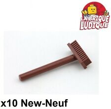 Lego - 10x Minifig utensil balai pushbroom marron/reddish brown 3836 NEUF