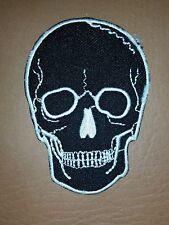 Skull Tattoo Biker Horror Goth Punk EMO Rock Iron/Sew-on Embroidered Patch/ Logo