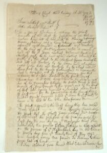 1742 COLONIAL AMERICAN AUTOGRAPH DOC. SIGNED by EDWARD WINSLOW re: PLYMOUTH LAND