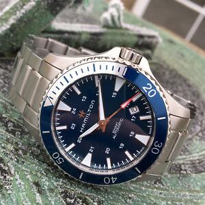 Hamilton Khaki Navy Scuba Blue Automatic Dive Wrist Watch 40mm