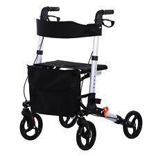 Drive Medical Rollator Walker with Seat, Storage, Wheelchair 1-Step Open