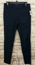 Old Navy Pixie pants chino womens 2 navy blue new never fade stretch J7