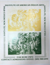 Santa Fe NM: c.1980 Poster INSTITUTE OF AMERICAN INDIAN ARTS, Grey Cohoe Artwork