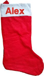 "personalised embroidered jumbo christmas santa stocking 30"" with any name large"