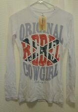 """Original Cowgirl Clothing NWT Red White&Blue LS Shirt """"Original Rebel Cowgirl"""" S"""
