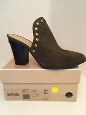 Michael Kors Louise Olive Heel Mules Size 8M *NEW