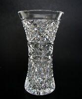 "Waterford Cut Crystal Glandore Flower Vase Ireland 6"" signed"
