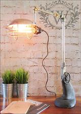 Stile Retrò Vintage Industriale vecchie pipe da tavolo lampada da tavolo luce regolabile in gabbia