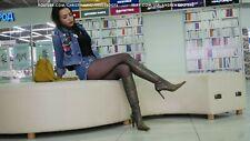 GIANMARCO LORENZI Size 38,5 US 8 Pointed toe high heels knee high boots Bronze