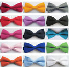 NEW Tuxedo Classic Bowtie Wedding Solid Color Neckwear Adjustable Men's Bow Tie